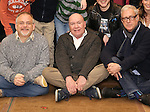 Marc Shaiman, Jack O'Brien and Scott Wittman attend the ''Charlie and the Chocolate Factory' Cast Photo Call at the New 42nd Street Studios on February 21, 2017 in New York City.