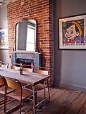 ENGLAND, Brighton, the Artist Residence Dining Room