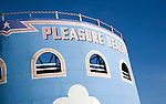 Pleasure beach funfair rides, Great Yarmouth, Norfolk, England
