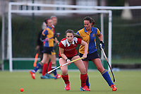 Upminster HC Ladies vs Holcombe HC Ladies 1A, East Region League Field Hockey at the Coopers Company and Coborn School on 11th November 2017