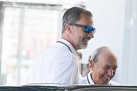 King Felipe VI of Spain arrives to mallorca Sailing Club