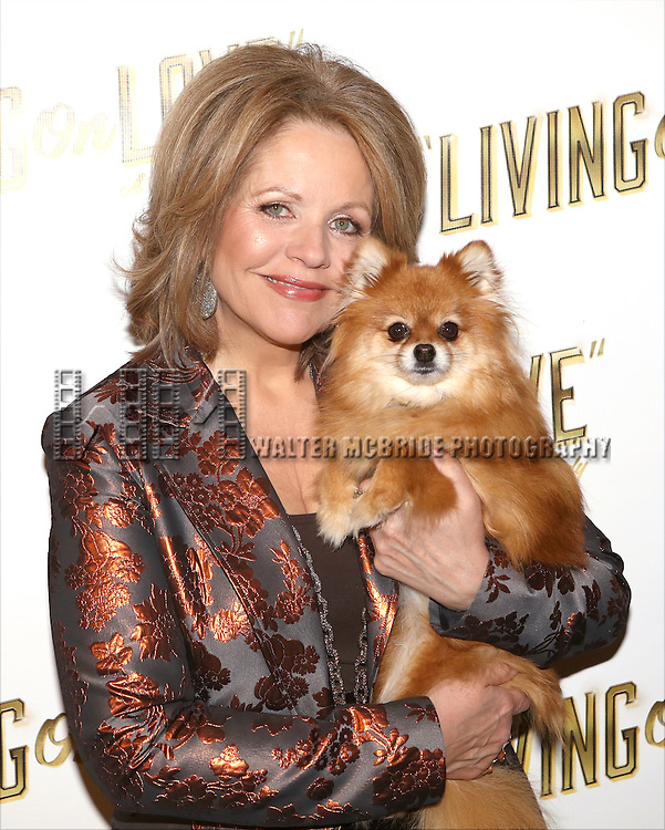 Renee Fleming and Trixie attends the 'Living on Love' photo call at the Empire Hotel on March 12, 2015 in New York City.