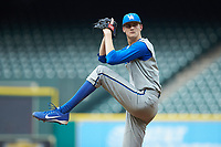 Kentucky Wildcats starting pitcher Sean Hjelle (30) in action against the Kentucky Wildcats in game two of the 2018 Shriners Hospitals for Children College Classic at Minute Maid Park on March 2, 2018 in Houston, Texas.  The Wildcats defeated the Cougars 14-2 in 7 innings.   (Brian Westerholt/Four Seam Images)