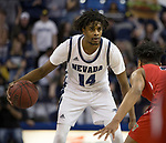 Lindsey Drew  (14) during the Fresno State at Nevada basketball game in Reno, Nev., Saturday, Feb. 22, 2020.