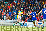 Kieran McCarthy Kilmoyley in action against  Lixnaw in the Kerry County Senior Hurling championship Final between Kilmoyley and Lixnaw at Austin Stack Park on Sunday.