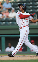 Infielder Xander Bogaerts (23) of the Greenville Drive in a game against the Lakewood BlueClaws on July 12, 2011, at Fluor Field at the West End in Greenville, South Carolina. (Tom Priddy/Four Seam Images)