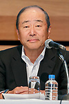 Idemitsu Kosan Co President Takashi Tsukioka attends a news conference on May 9, 2017, Tokyo, Japan. The two oil distributors announced a business alliance to consolidate their refining and supply operations. Despite opposition from Idemitsu's founding family, the companies signed the agreement today and it will take immediate effect under the banner ''Brighter Energy Alliance.'' (Photo by Rodrigo Reyes Marin/AFLO)