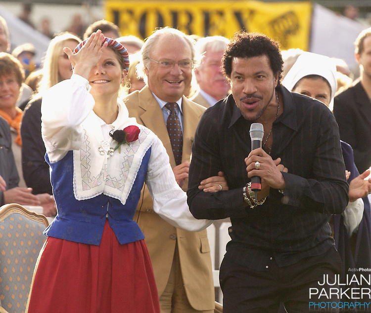 Crown Princess Victoria of Sweden celebrates her 27th birthday with a Lionel Richie concert in Borgholm..