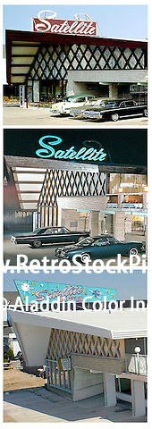 Salellite Motel Neon Signs from 1963 & 2004