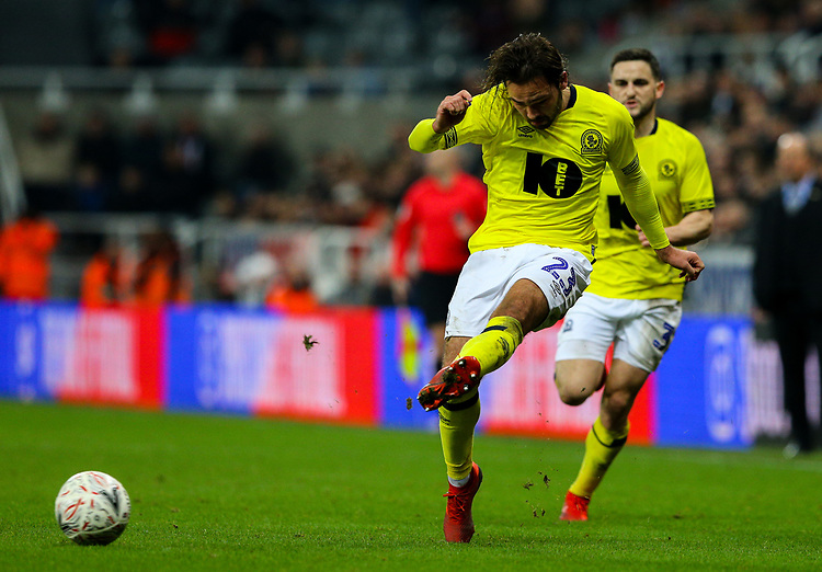 Blackburn Rovers' Bradley Dack in action<br /> <br /> Photographer Alex Dodd/CameraSport<br /> <br /> Emirates FA Cup Third Round - Newcastle United v Blackburn Rovers - Saturday 5th January 2019 - St James' Park - Newcastle<br />  <br /> World Copyright © 2019 CameraSport. All rights reserved. 43 Linden Ave. Countesthorpe. Leicester. England. LE8 5PG - Tel: +44 (0) 116 277 4147 - admin@camerasport.com - www.camerasport.com