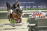William Whitaker of United Kingdom riding on Utamaro D Ecaussines competes during the EEM Trophy, part of the Longines Masters of Hong Kong on 10 February 2017 at the Asia World Expo in Hong Kong, China. Photo by Weixiang Lim / Power Sport Images