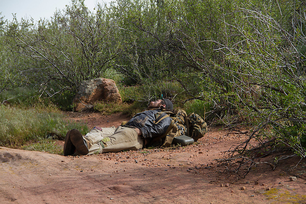 Homeless man sleeping, Golden, Colorado .  John leads private photo tours in Boulder and throughout Colorado. Year-round.