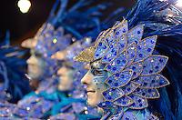 SAO PAULO, SP, 09 FEVEREIRO 2013 - CARNAVAL SP - NENE DE VILA MATILDE - Integrantes da escola de samba Nenê de Vila Matilde durante desfile no segundo dia do Grupo Especial no Sambódromo do Anhembi na região norte da capital paulista, nesta sabado, 09. FOTO: LEVI BIANCO - BRAZIL PHOTO PRESS