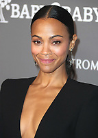 CULVER CITY - NOVEMBER 10:  Zoe Saldana at The 2018 Baby2Baby Gala Presented By Paul Mitchell Event on November 19, 2018 at 3Labs in Culver City, California. (Photo by Scott Kirkland/PictureGroup)