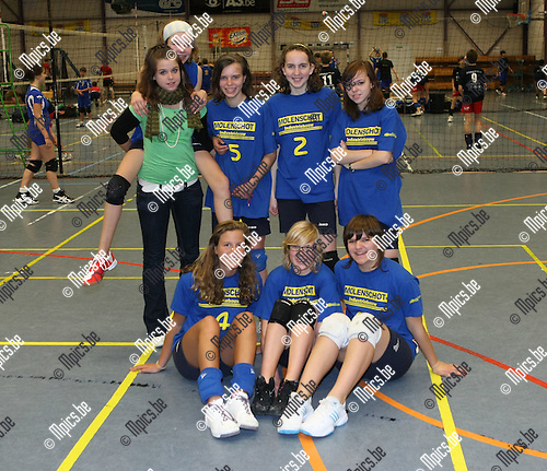 2008-11-16 / Volleybal/ Jeugd / Meisjes C Balvoc Balen / Nele Boven, Sara Drent, An Lodewyckx, Tessa Peeters, Indra Tessens, L. Caeyers en N. Maes..Foto: Maarten Straetemans (SMB)