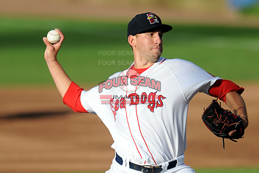 Portland Sea Dogs pitcher Matt Barnes #35 during a game versus the Binghamton Mets at Hadlock Field in Portland, Maine on May 17, 2013. (Ken Babbitt/Four Seam Images)