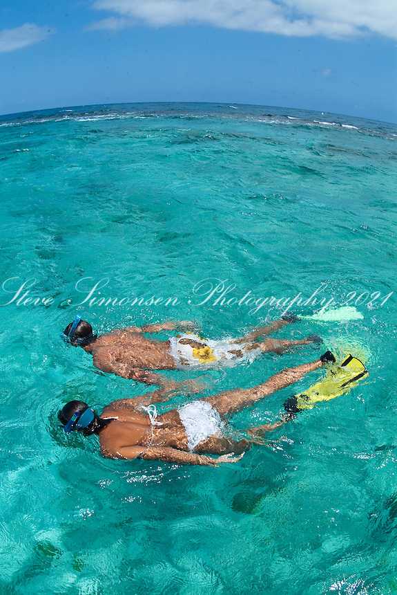 Snorkelers at Buck Island<br /> St Croix, US Virgin Islands