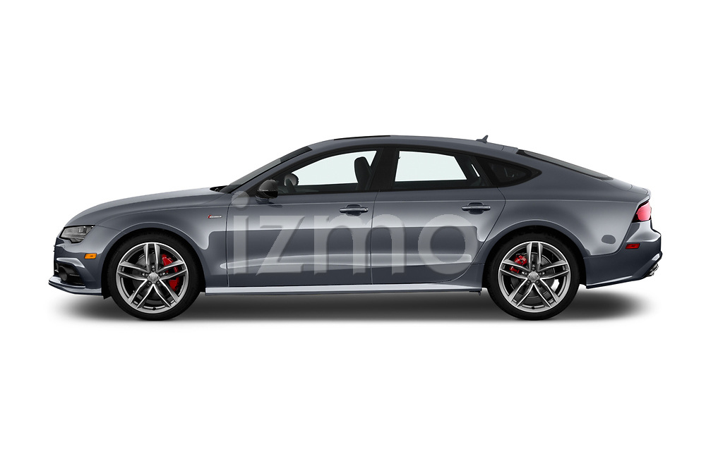 Car driver side profile view of a 2018 Audi A7 Premium Plus 5 Door Hatchback