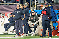 FOXBORO, MA - OCTOBER 10: New England coach Bill Belichick during a game between New York Giants and New England Patriots at Gillettes on October 10, 2019 in Foxboro, Massachusetts.