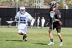 Corona Del Mar, CA 04/06/10 - Jack Michel (Danville/Monte Vista #9) and Josh Giger (Corona Del Mar #22) in action during the Corona Del Mar-Danville/Monte Vista lacrosse game.