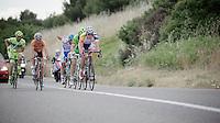 2013 Giro d'Italia.stage 5: Cosenza - Matera .203 km..Brian Bulgaç (NLD) leading the breakaway