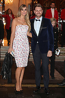 Brian McFadden and Vogue Williams arriving for the I Can't Sing Press Night, at the Paladium, London. 26/03/2014 Picture by: Alexandra Glen / Featureflash
