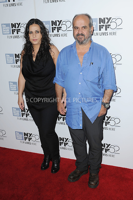 WWW.ACEPIXS.COM<br /> October 8, 2014 New York City<br /> <br /> Usama Muhammad and Noma Omram attending the  'Silvered Water' screening during the 52nd New York Film Festival at Alice Tully Hall on October 8, 2014 in New York City<br /> <br /> By Line: Kristin Callahan/ACE Pictures<br /> ACE Pictures, Inc.<br /> tel: 646 769 0430<br /> Email: info@acepixs.com<br /> www.acepixs.com