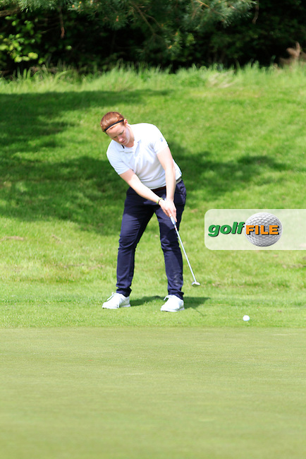 Emma Gilmore (Mountbellew) on the 6th green during Round 1 of the Irish Women's Open Strokeplay Championship at Dun Laoghaire Golf Club on Saturday 23rd May 2015.<br /> Picture:  TJ Caffrey / www.golffile.ie