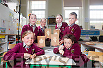"Senior students from Knockaclarig National School under the guidance of woodcarver John Murphy are taking part in a wood carving programe entitled ""Crafted Project"", pictured l-r: Ciara Lane, Siobhan O'Connor, Mikayla Murphy, Rebecca Mulvihill, Ewan Murphy and Sarah Mahony"