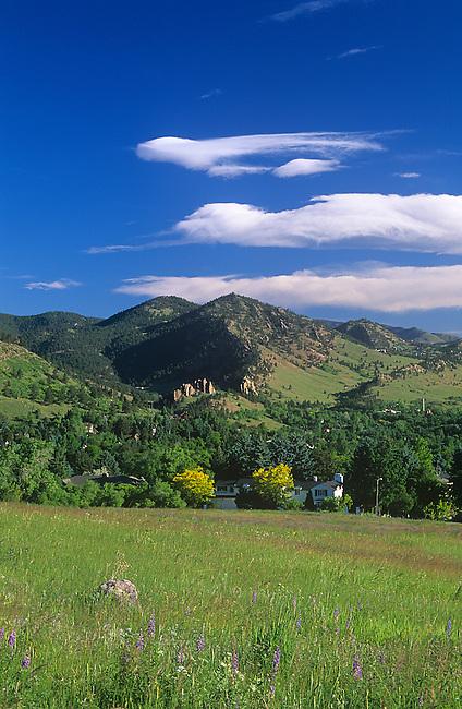 Chautauqua Meadow, Flatirons, Boulder, Colorado