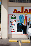 JAMAICA, Port Antonio. Front of a store in Downtown Port Antonio.
