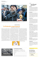 Die Wochenzeitung WOZ (Swiss weekly) on crisis-related civil activity in Hungary, part 1: Anti-government demonstration, 2013.04.04. Photo: Martin Fejer