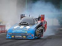 Mar 16, 2019; Gainesville, FL, USA; NHRA funny car driver Matt Hagan during qualifying for the Gatornationals at Gainesville Raceway. Mandatory Credit: Mark J. Rebilas-USA TODAY Sports