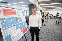 "Collin Mostoufi '17 presents ""The Cosman Shell Collection Revealed: Analysis of the Hawaiian Gastropod Dataset""<br /> Occidental College's Undergraduate Research Center hosts their annual Summer Research Conference on Aug. 4, 2016. Student researchers presented their work as either oral or poster presentations at the final conference. The program lasts 10 weeks and involves independent research in all departments.<br /> (Photo by Marc Campos, Occidental College Photographer)"