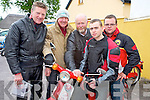 Andrew Hourigan, Newmarket, Eddie Cronin, Headford, Killarney, with Denis, John and Patrick McSweeney, Kilcummin, at the start of the Honda 50 challenge in aid of The South Kerry Parkinsons society atThe Old Killarney Inn, Aghadoe on Sunday morning.