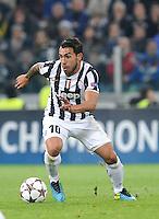 Carlos Tevez  Juventus  Torino 05/11/2013  Juventus Stadium UEFA Champions League 2013/2014  Football Calcio Juventus - Real Madrid  Foto Giorgio Perottino / Insidefoto