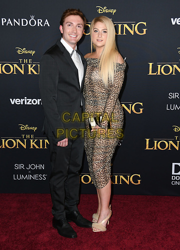 """09 July 2019 - Hollywood, California - Daryl Sabara, Meghan Trainor. Disney's """"The Lion King"""" Los Angeles Premiere held at Dolby Theatre. <br /> CAP/ADM/BT<br /> ©BT/ADM/Capital Pictures"""