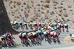 The peloton in action during Stage 6 of the La Vuelta 2018, running 150.7km from Huércal-Overa to San Javier, Mar Menor, Sierra de la Alfaguara, Andalucia, Spain. 30th August 2018.<br /> Picture: Unipublic/Photogomezsport | Cyclefile<br /> <br /> <br /> All photos usage must carry mandatory copyright credit (© Cyclefile | Unipublic/Photogomezsport)