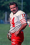 San Francisco 49ers training camp August 4, 1988 at Sierra College, Rocklin, California.  Kicker Ray Wersching (14).