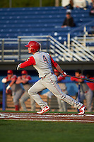 Williamsport Crosscutters outfielder Venn Biter (4) at bat during a game against the Batavia Muckdogs on August 27, 2015 at Dwyer Stadium in Batavia, New York.  Batavia defeated Williamsport 3-2.  (Mike Janes/Four Seam Images)