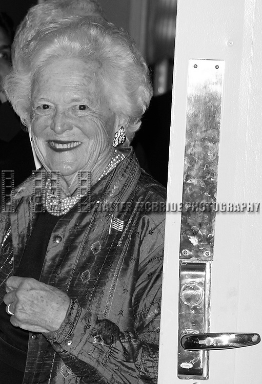 Barbara Bush attending CASA'S Eleventh Anniversary Awards Dinner Honors American Leadership in Combating <br /> Substance Abuse. Waldorf Astoria Hotel, NYC.<br /> April 2, 2003
