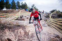 Chelva, SPAIN - MARCH 6: Jonay Herrera during Spanish Open BTT XCO on March 6, 2016 in Chelva, Spain