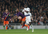 Manchester City's Raheem Sterling is challenged by Tottenham Hotspur's Moussa Sissoko<br /> <br /> Photographer Rob Newell/CameraSport<br /> <br /> UEFA Champions League Quarter-finals 1st Leg - Tottenham Hotspur v Manchester City - Tuesday 9th April 2019 - White Hart Lane - London<br />  <br /> World Copyright © 2018 CameraSport. All rights reserved. 43 Linden Ave. Countesthorpe. Leicester. England. LE8 5PG - Tel: +44 (0) 116 277 4147 - admin@camerasport.com - www.camerasport.com