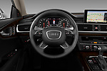 Car pictures of steering wheel view of a 2012 Audi A7 Sportback 4 Door Hatchback