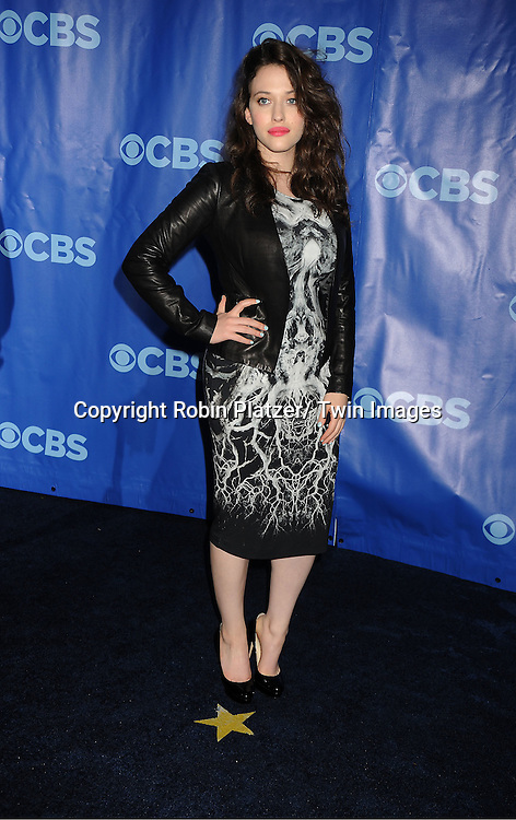 """Kat Dennings  of """"2 Broke Girls"""" attending The CBS Upfront announcement of the Prime Time 2011-2012 Season on May 18, 2011 at Damrosch Park in  Lincoln Center in New York City."""