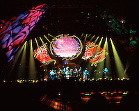 Grateful Dead in Concert 29 September 1994 at The Boston Garden. Image No. 94GDC52-03. Stage, Set and Lighing Design View. Photography taken from the lighting booth for Candace Brightman LD.