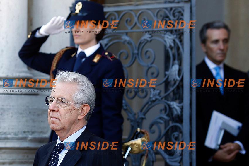 Mario Monti  e Vittorio Grilli.Roma 21/09/2012 Villa Pamphilj - Incontro tra il Presidente del Consiglio Italiano, e il  il Primo Ministro Spagnolo..Foto Serena Cremaschi Insidefoto