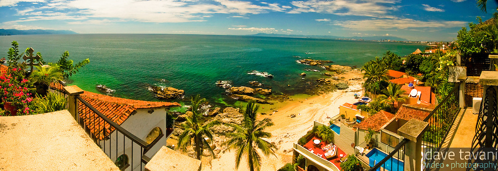 Playa Conchas Chinas is a few minutes south of the hustle and bustle of tourist-packed Puerto Vallarta in the state of Jalisco, Mexico.