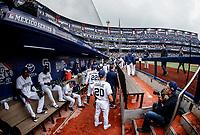 Dogout de San Diego Padres..<br /> Baseball action during the Los Angeles Dodgers game against San Diego Padres, the second game of the Major League Baseball Series in Mexico, held at the Sultans Stadium in Monterrey, Mexico on Saturday, May 5, 2018 .<br /> (Photo: Luis Gutierrez)<br /> <br /> Acciones del partido de beisbol, durante el encuentro Dodgers de Los Angeles contra Padres de San Diego, segundo juego de la Serie en Mexico de las Ligas Mayores del Beisbol, realizado en el estadio de los Sultanes de Monterrey, Mexico el sabado 5 de Mayo 2018.<br /> (Photo: Luis Gutierrez)