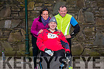 Jessica Britton, Ger Daly and Michael O'Callaghan from Killarney at the Good Friday 5 miles run in Killarney last Friday.